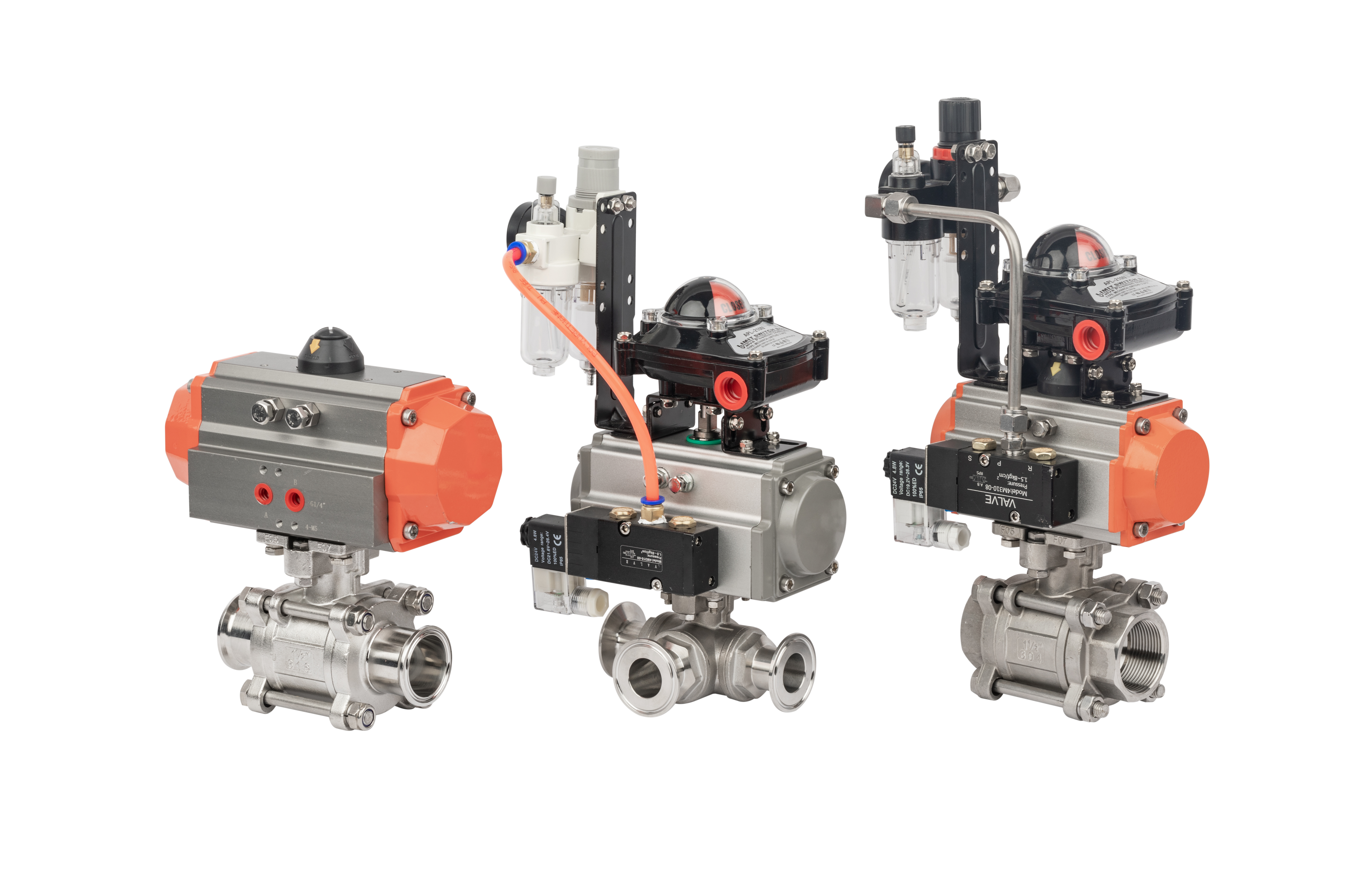 Stainless Steel 3Way Ball Valve With F.R.L Unit