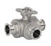 Stainless Steel 3Way Clamp Ball Valve with Actuator