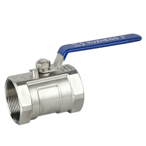 1PC Stainless Steel Full Bore Two Way Ball Valves CF8M 1000 WOG