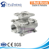 3PC Ball Valve WIth New Type Mounting Pad V-Type Ball