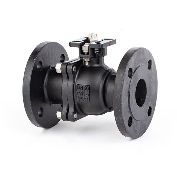 2PC Carbon Steel Flange Ball Valve With ISO5211 PAD