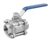 Industry Stainless Steel 304/316 3PC Ball Valve V-Type Ball