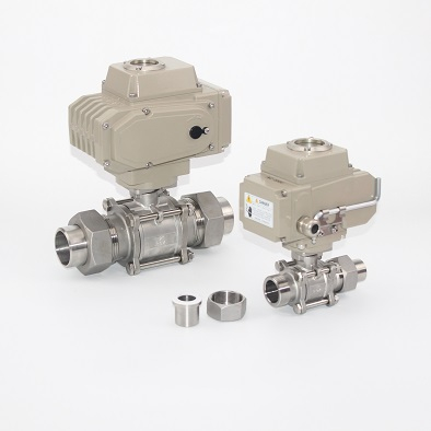 2PC Stainless Steel Thread Ball Valve With Actuator