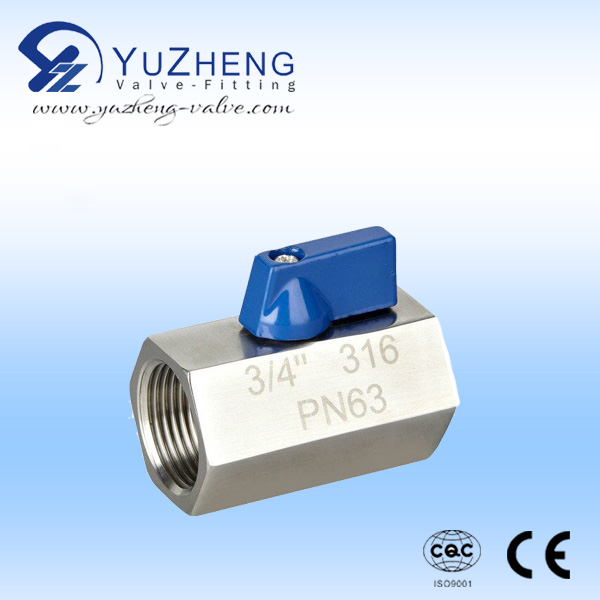 Industrial Mini stainless Steel Thread Ball valve