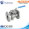 JIS 5K/10K Stainless Steel Flange Ball Valve With ISO5211 Mounting Pad
