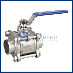 304L Stainless Steel 3pc Ball Valve Manufacture In China